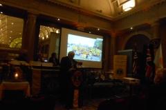 Lion Chris addressing conference.