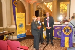"""Lion Pat winner of the """"Rookie of the year award"""" presented by International Director Lion George & District Governor Lion Nigel."""