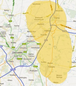 Thorne Lions Area Covered